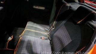 イグニスの後部座席。スライド&リクライニングの様子を画像でチェック