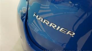 【実車で確認】ハリアー特別仕様車のブルーメタリックを画像レビュー